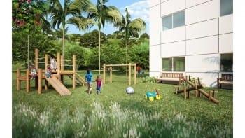 Perspectiva parque infantil do Cores de Piatã.