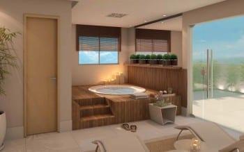 Perspectiva do spa com relax do Palazzo Torre Bárbara.