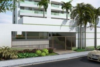 Perspectiva Entrada do Essencial Flex House, localizado no bairro da Pituba em Salvador