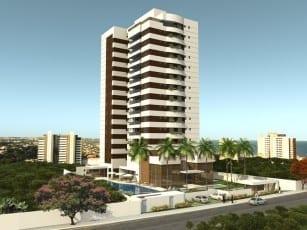 Perspectiva Fachada do Belavista Patamares, localizado no bairro de Patamares, em Salvador.