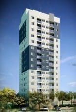 Perspectiva Fachada do Flex Piatã- 54m², localizado no bairro de Piatã, em Salvador.