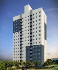 Perspectiva fachada do Flex Piatã - 71m², localizado no bairro de Piatã, em Salvador.