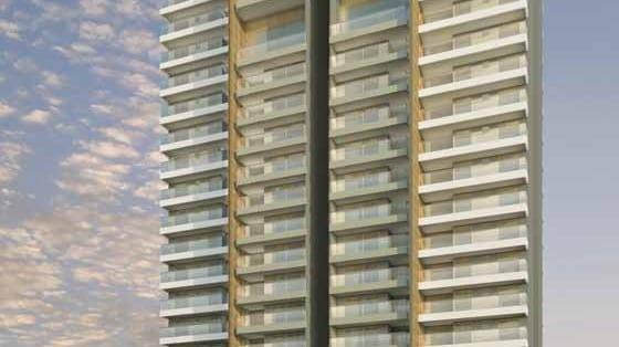 Perspectiva Fachada do Neo Itaigara Life, localizado no bairro do Itaigara, em Salvador.