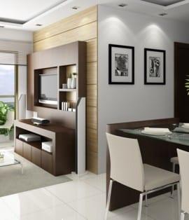 Perspectiva Living do Altos de Salvador Complete Residence, localizado no bairro de Luiz Anselmo em Salvador