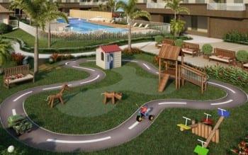 Perspectiva Parque infantil do Volare Imbuí, localizado no bairro do Imbuí, em Salvador.