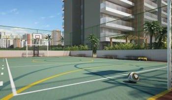 Perspectiva Quadra Poliesportiva do Neo Itaigara Life, localizado no bairro do Itaigara, em Salvador.