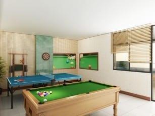 Perspectiva Salão de Jogos do Atlantic House, localizado no bairro de Jardim Armação, em Salvador.