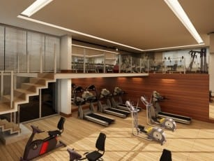 Perspectiva Salão Fitness do Empreendimento