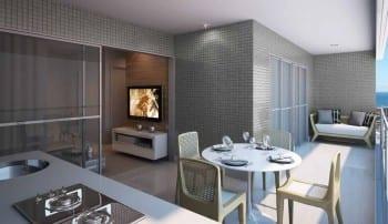 Perspectiva Varanda do Apartamento c/ 2 quartos, do empreendimento Neo Itaigara Life, localizado no bairro do Itaigara, em Salvador.