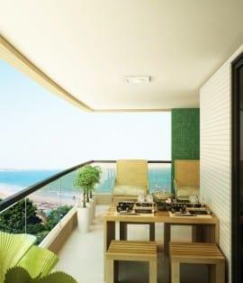 Perspectiva Varanda do Residencial Atlantic House, localizado no bairro de Jardim Armação, em Salvador.