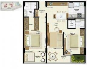 D1 - DOUBLE CHOICE, Um apartamento 2 em 1 - 71,38m²