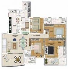 Planta baixa do apartamento cobertura, Pavimento Inferior - 155,95 m²
