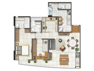 Planta Baixa - Flexroom Home Office
