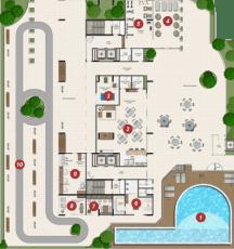 Planta Baixa Implantação do Garibaldi Residence