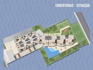 Planta Baixa Ondina Ocean - Coberturas, localizado no bairro de Ondina, em Salvador.