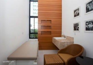 Sala de Massagem do Residencial Amazon - Aquarius, localizado no bairro da Pituba, em Salvador.