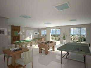 Salão de Jogos do Torres do Atlântico, localizado no bairro de Vilas do Atlântico, em Lauro de Freitas.