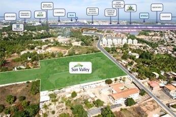 Foto aérea da Localização do empreendimento.