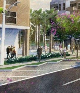 Perspectiva Artística da avenida com ciclovia do Vívea Nova Camaçari