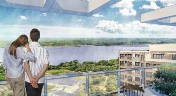 Perspectiva Artística da vista do Rio Joanes