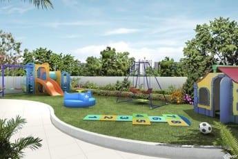 Perspectiva do do parque infantil do empreendimento.