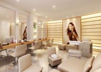 Perspectiva ilustrada da beauty center