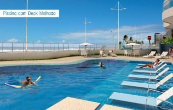 Piscina com Deck Molhado do Wave Exclusive.