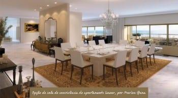 Apartamento Linear - Opção de sala de conveniência - do empreendimento.