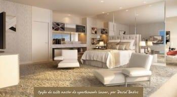 Apartamento Linear - Opção de suíte master - do empreendimento.
