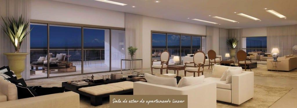 Imóvel de Luxo, Apartamento Linear - Sala de Estar da Mansão Wildberger.