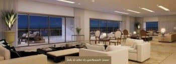 Apartamento Linear - Sala de Estar do empreendimento.