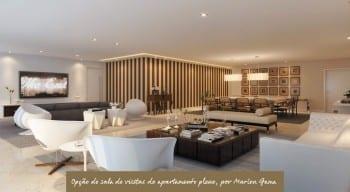 Apartamento Pleno - Opção de sala de visitas do empreendimento.