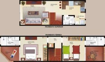 Blocos A e C - Tipo Duplex - Casas 02 - 03 - 04 - 05 - 06
