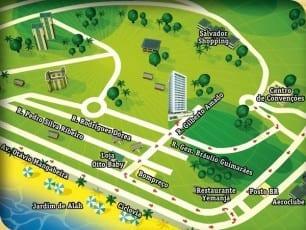 Mapa de localização do empreendimento.