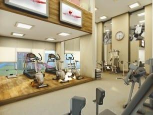 Perspectiva da Academia (fitness) do Villa Augusta