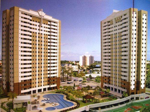 Perspectiva da fachada do Máximo Club Residence