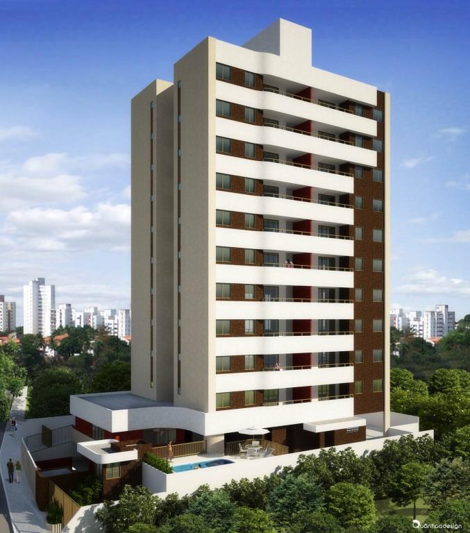 Perspectiva da fachada do Residencial Paradiso.