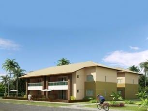 Apartamento 3 quartos com 124m² de área privativa do condomínio fechado Ponta de Inhambupe, localizado em uma das melhores praias do litoral da Bahia, Praia de Baixio.