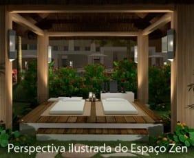 Perspectiva do Espaço Zen Máximo Club do Máximo Club Residence.