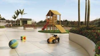 Perspectiva do Parque Infantil do empreendimento.