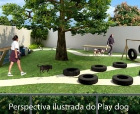 Perspectiva do Play Dog do empreendimento.