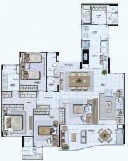 Planta Baixa do empreendimento Tipo 02 - 142,69 m²