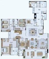 Planta Baixa do empreendimento Tipo 05 - 243,45 m²