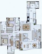 Planta Baixa do Empreendimento Tipo 07 - 142,69 m²