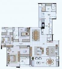 Planta Baixa do Empreendimento Tipo 08 - 166,18 m²