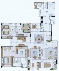 Planta Baixa do empreendimento Tipo 10 - 243,45 m²