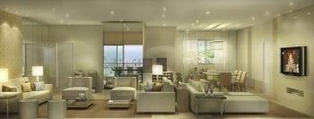 Perspectiva ddo apartamento com 185,60m2 e living ampliado