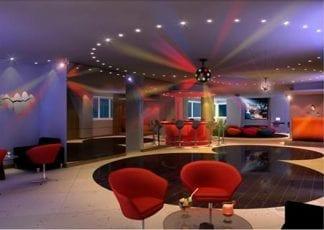 Perspectiva do Salão de festas, bar e boate