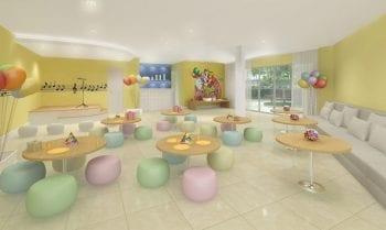Perspectiva do salão de festas infantil do Diamond Alto do Itaigara
