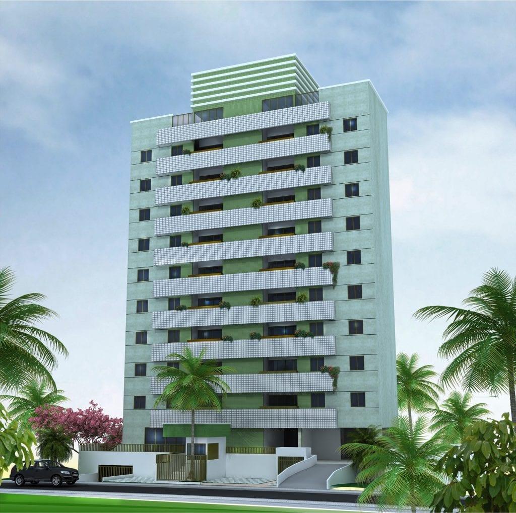 Pespectiva da fachada do Residencial José Silva Azi